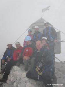 Okrnjena zasedba na vrhu Triglava