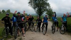 turno kolesarji skupinska