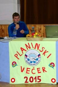 Luka Lindič je bil gost letošnjega planinskega večera